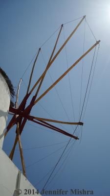 Santorini Windmill watermarked
