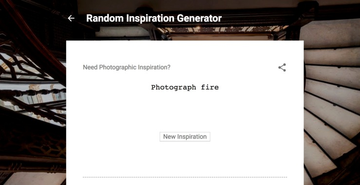 Photo Random Inspiration Generator