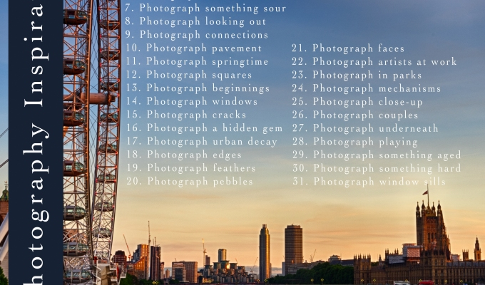 31 Photography Inspirations: April 2018