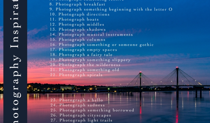 31 Photography Inspirations: May 2018
