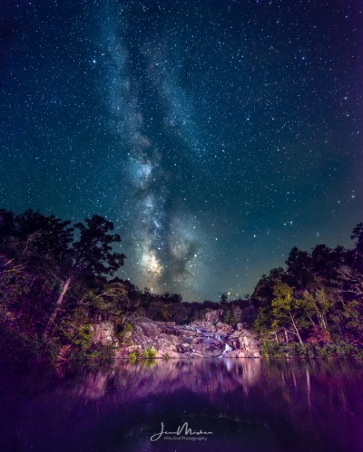 Photo Rocky Falls Milky Way