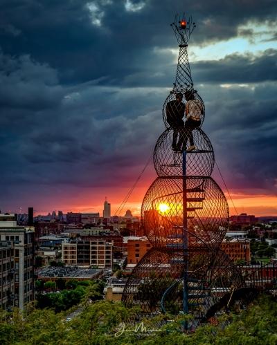 Photo Sunset on the City