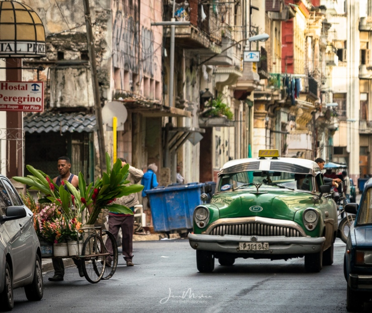 Photo Street Scene Old Havana