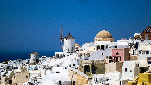 Photo Santorini Oia Windmill