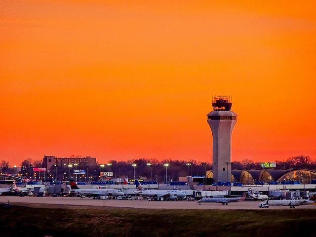 Photo Airport at Sunset