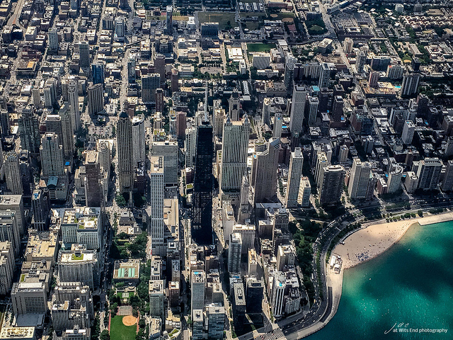 Photo Flying in to Chi Town