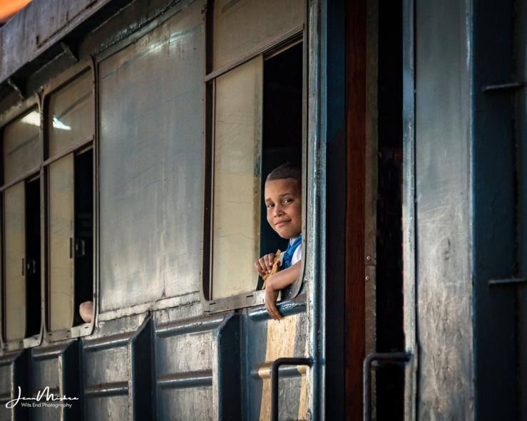 Photo Boy on the train