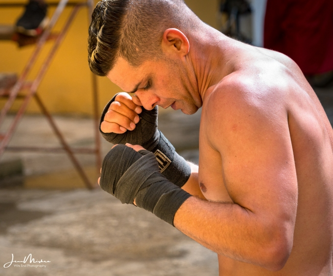 Boxer at Rafael Trejo Boxing Gym, Havana Cuba
