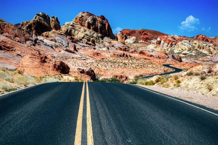 Photo road Nevada Valley of Fire