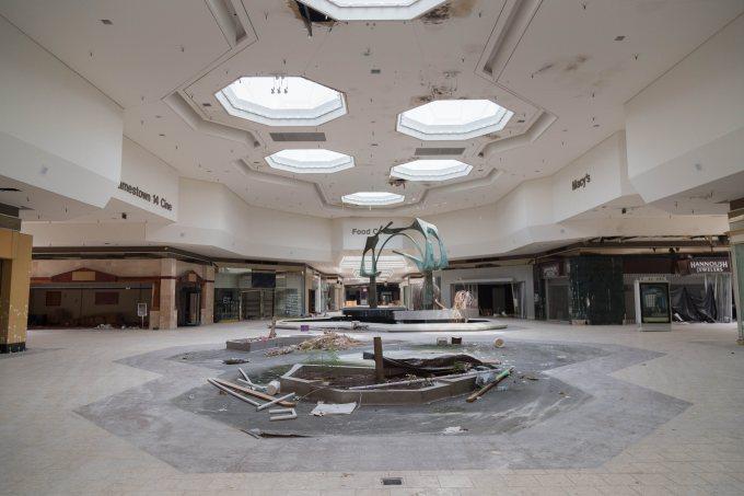 Photo abandoned mall