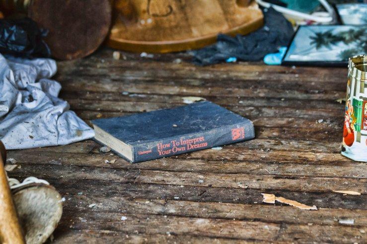 photo abandoned book