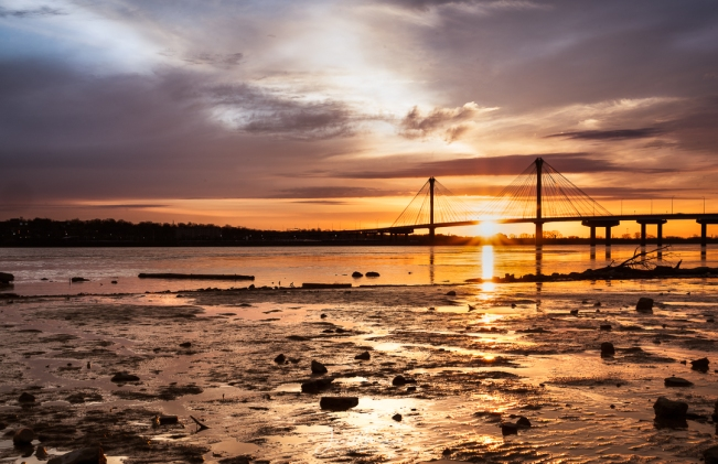 Sunrise Clark Bridge-