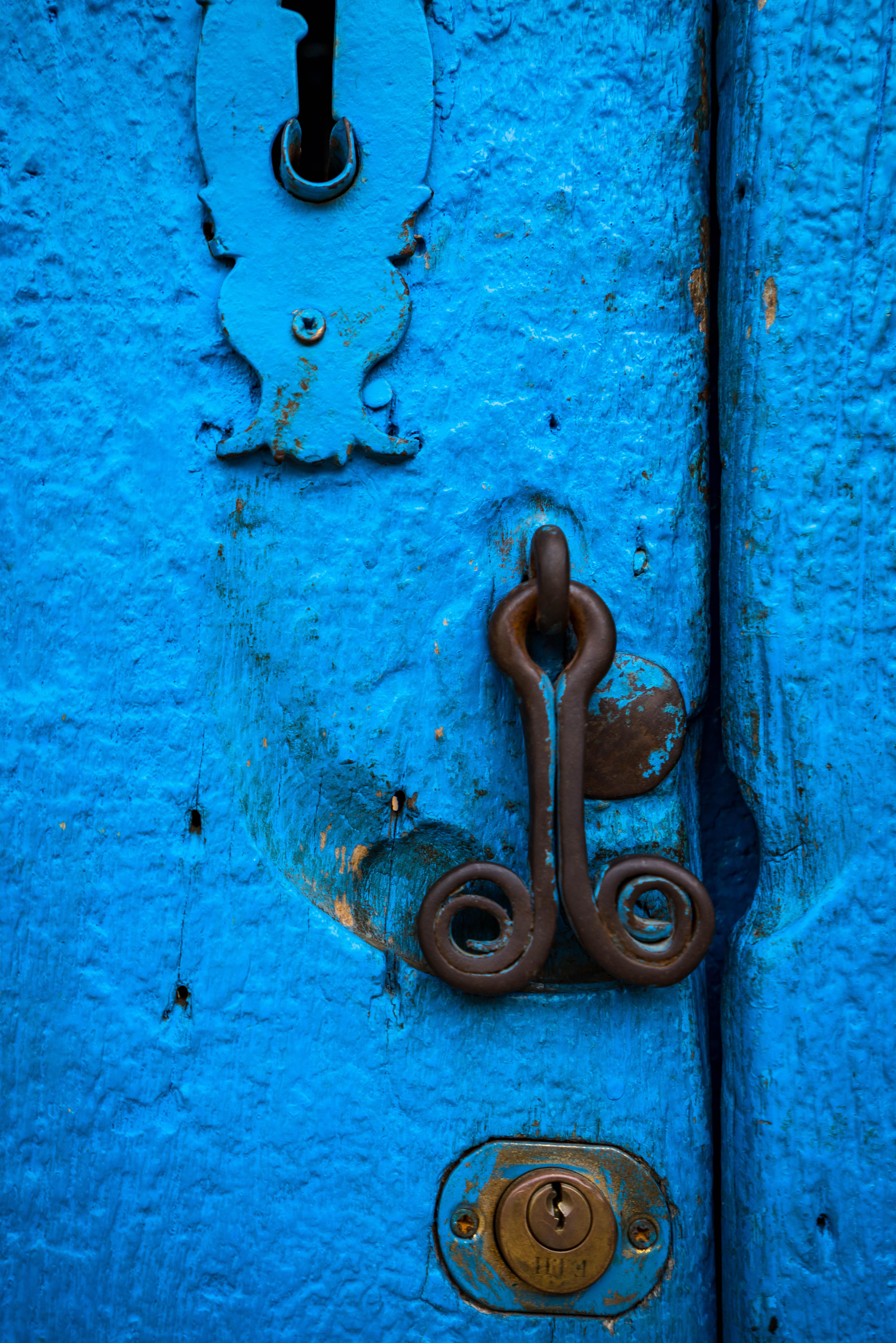 A Very Blue Door in Trinidad, Cuba.