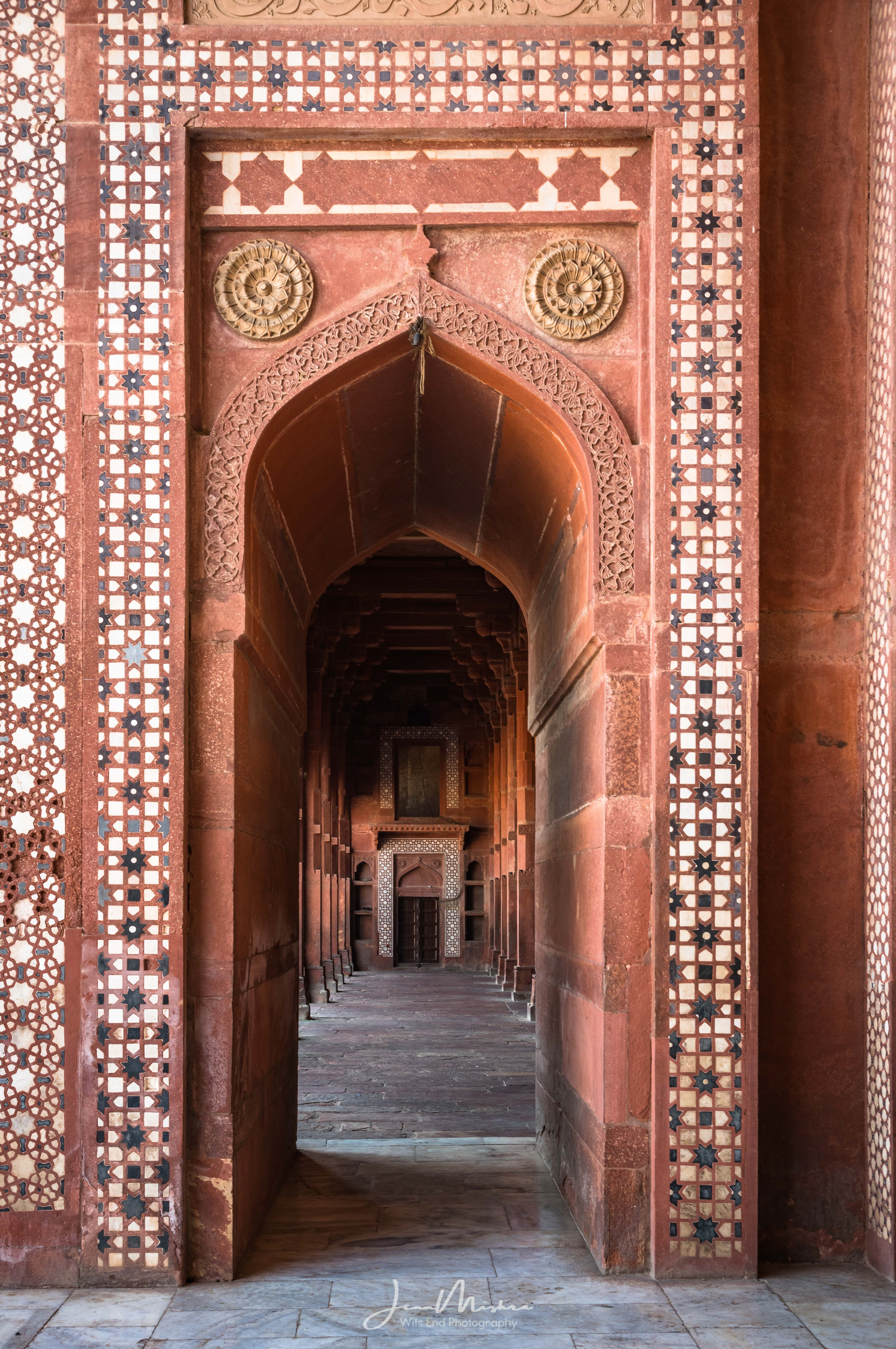 Architectural detail at the Fatehpur Sikri Mosque.