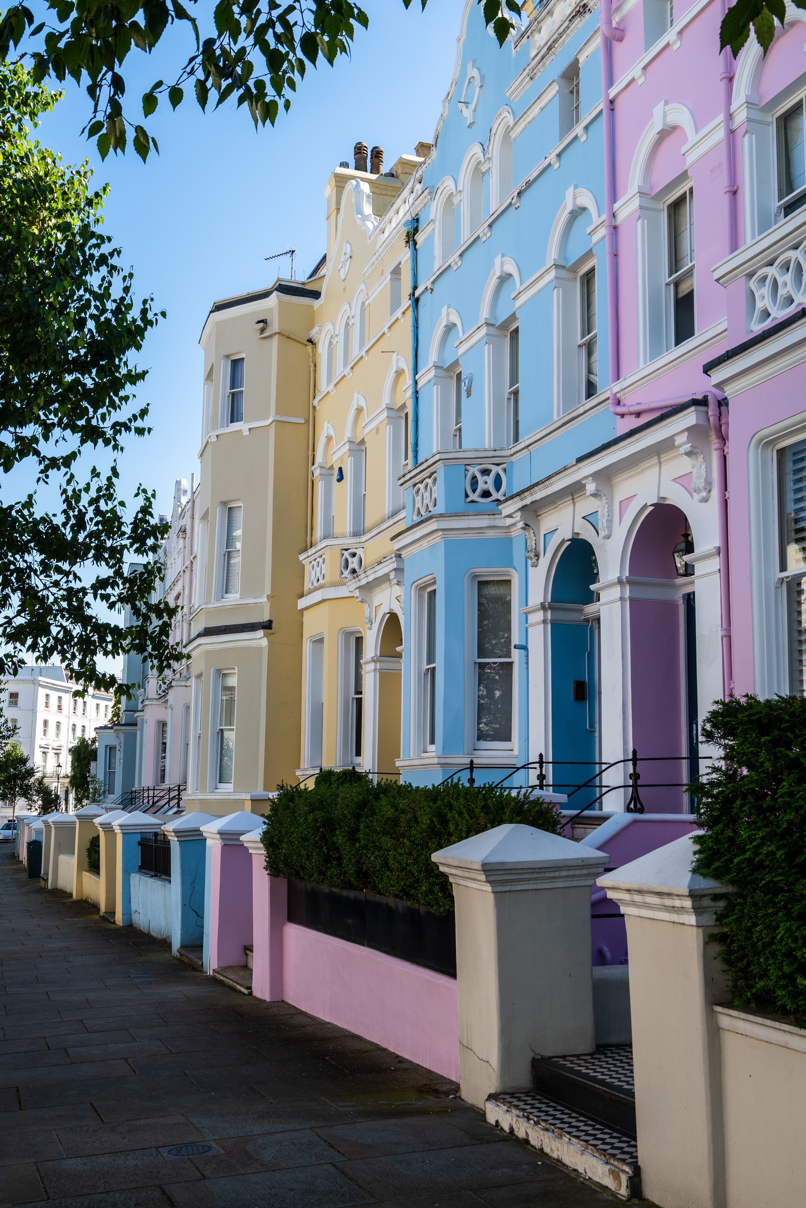 Colorful houses Notting Hill London